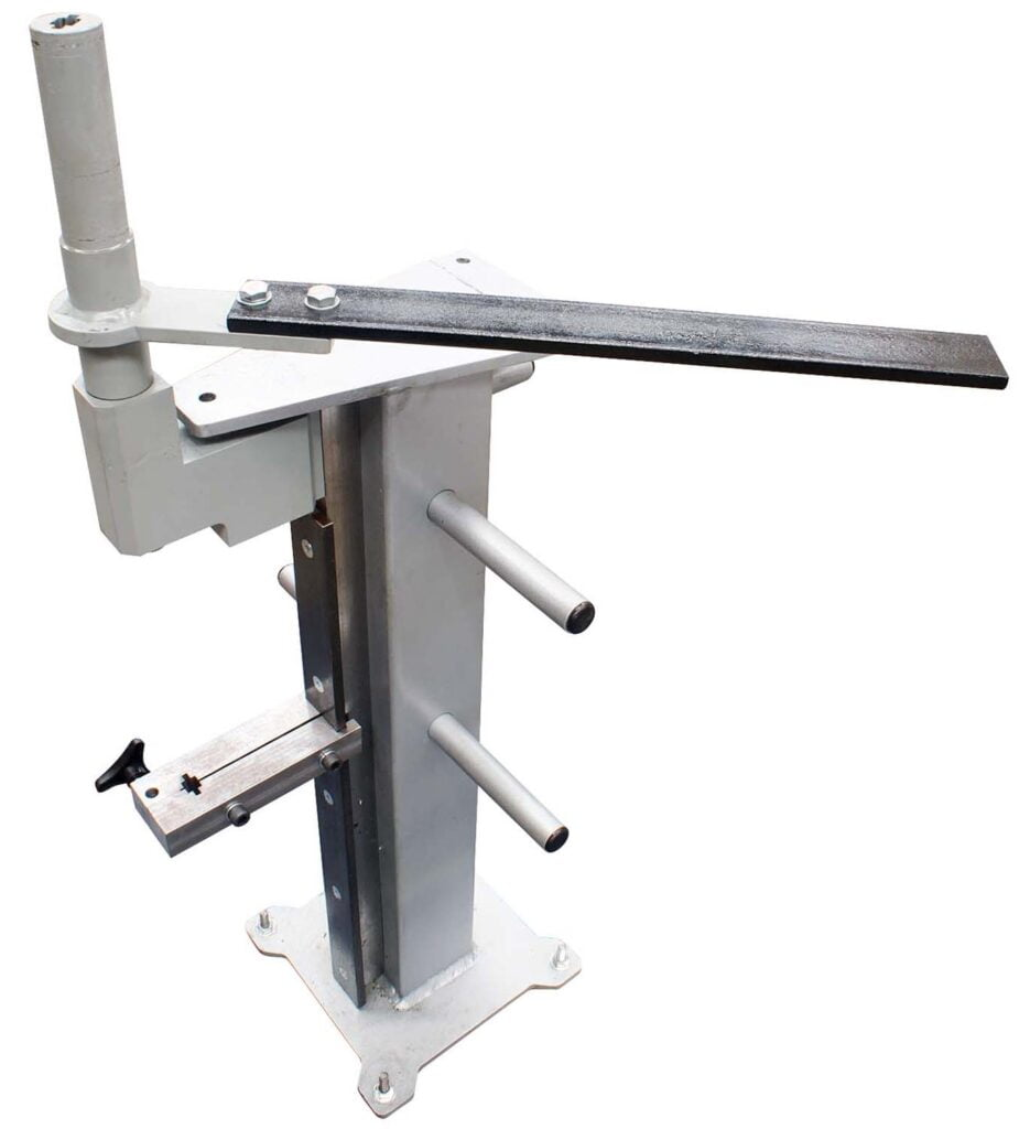 Picket & Basket Twister Attachment on optional TBSTAND Tube Bender Stand